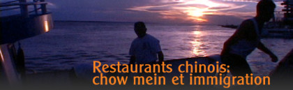 Restaurants chinois: chow mein et immigration
